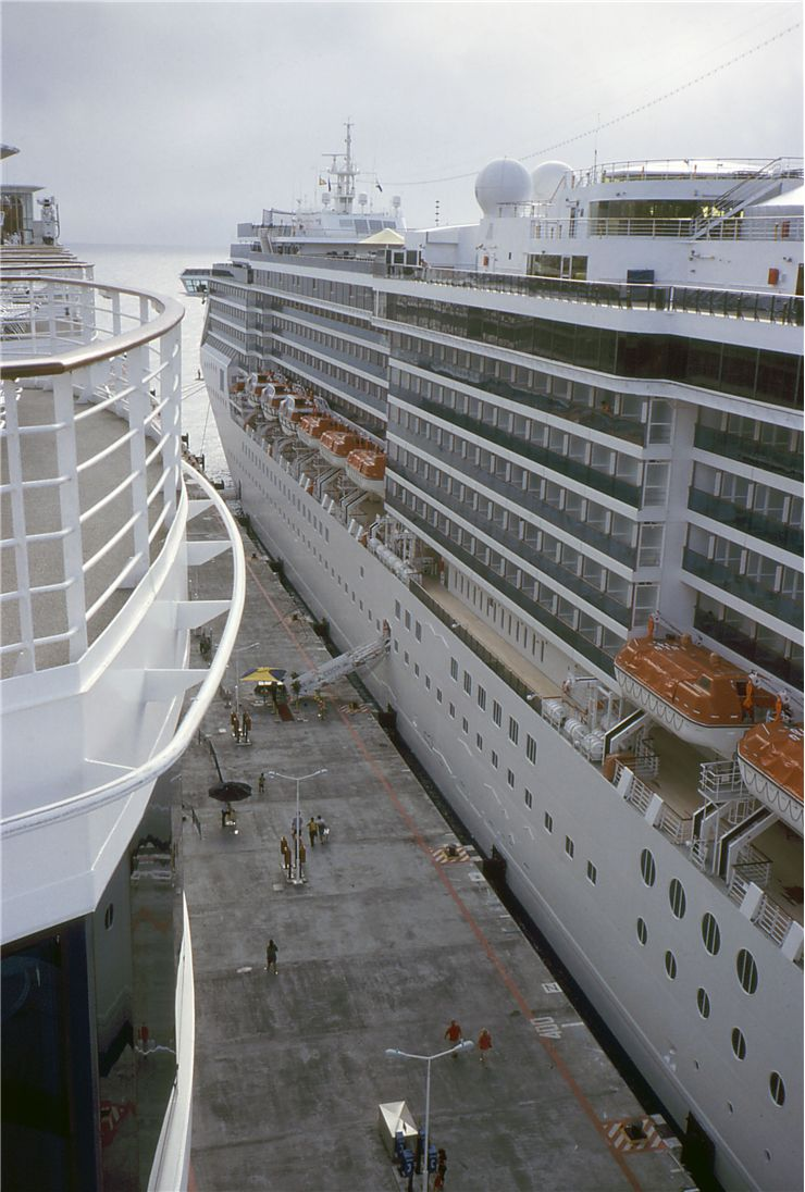 Picture Of Docked Cruise Ships