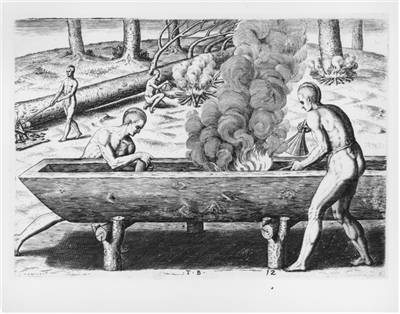 Picture Of Dugout Canoe