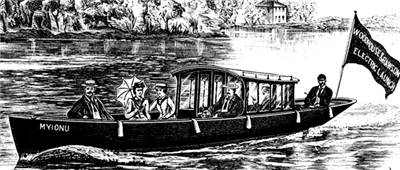 Picture Of Electric Launch 1897