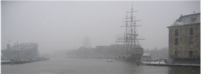 Picture Of Historical Vessels In Amsterdam