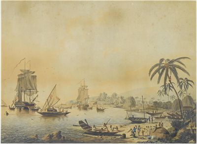 Picture Of Hms Resolution And Discovery In Tahiti