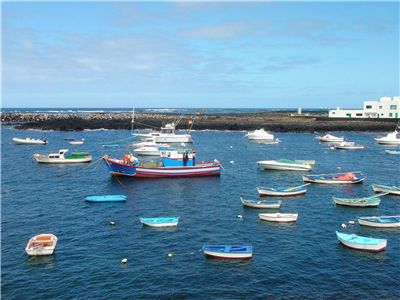 Picture Of Ships And Boats At Small Harbour