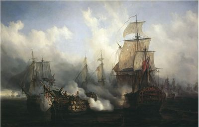 Picture Of Ships At The Battle Of Trafalgar 1805