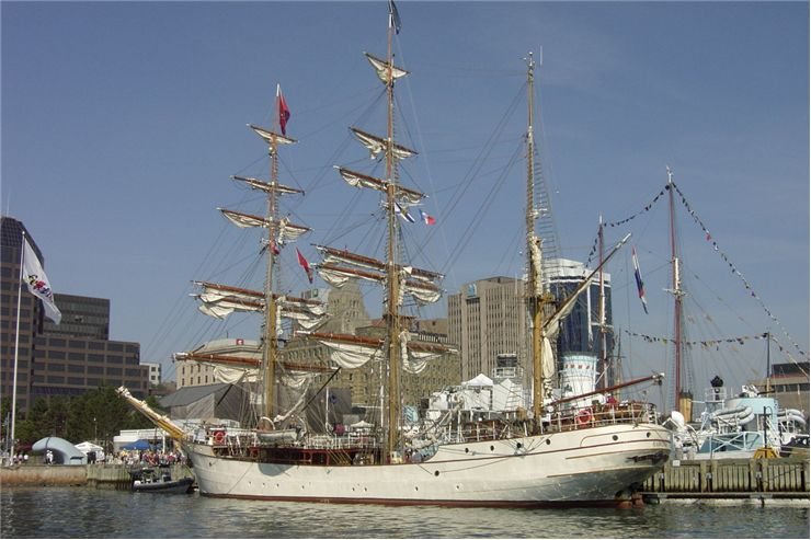 Picture Of Tall Ships In The Harbour