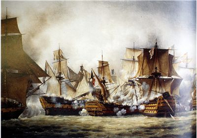 Picture Of The Battle Of Trafalgar In 1805