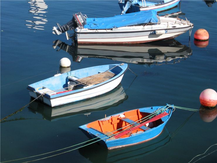 Picture Of Traditional Boats In The Fishing Port