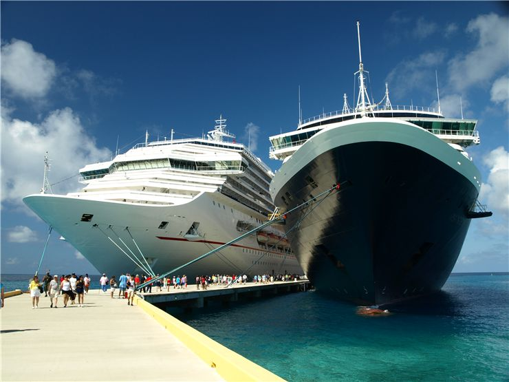Picture Of Two Cruise Ships